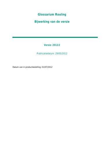 Glossarium Routing Bijwerking van de versie