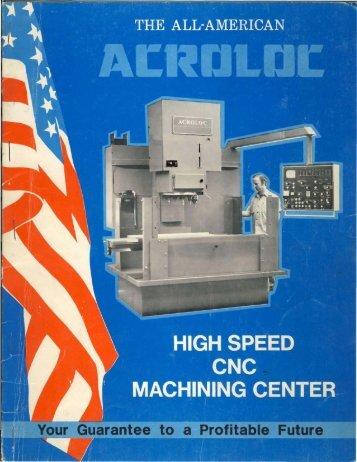 Acroloc Machining Center Brochure - Sterling Machinery