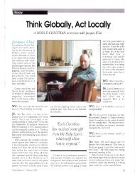 Think Globally, Act Locally - Jesus Radicals