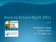 Year 3 - Renaissance College