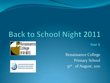 Year 3 - Renaissance College