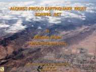 ALQUIST-PRIOLO EARTHQUAKE FAULT ZONING ACT - PEER