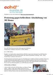 (Protestzug gegen bef\374rchtet...) - Aktion 302