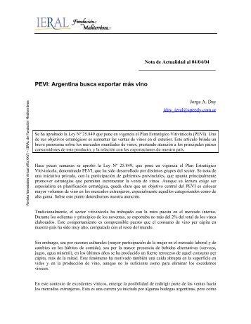 PEVI: Argentina busca exportar más vino - Bolsa de Comercio de ...