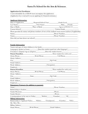 Cheng de elementary school application form i brief introduction elementary application form santa fe school for the arts sciences altavistaventures Choice Image