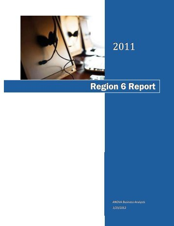 Region 6 Report - Department of Behavioral Health and ...