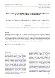 electrochemical behavior of stainless steel in oxonia- active with ...