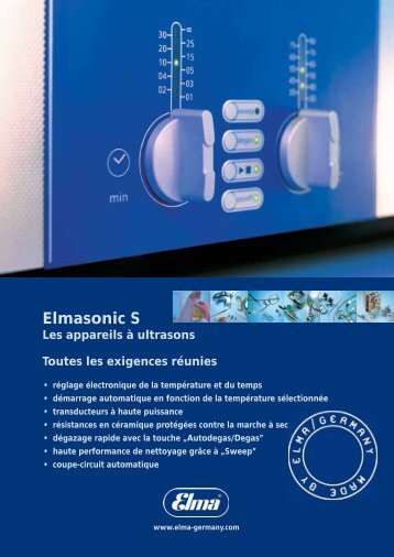 Brochure Elmasonic - Dental Quality