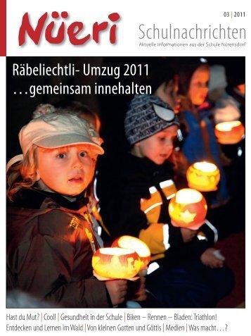 ist sie, die erste farbige Ausgabe der «Nüeri ... - Schule Nürensdorf