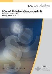 BGV A1 Unfallverhütungsvorschrift - lictora