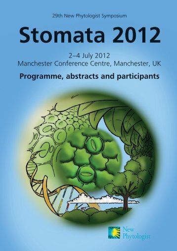 Download the 29th NPS abstract book - New Phytologist Trust