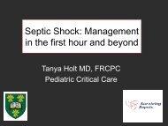Pediatric Sepsis - MD Ambulance