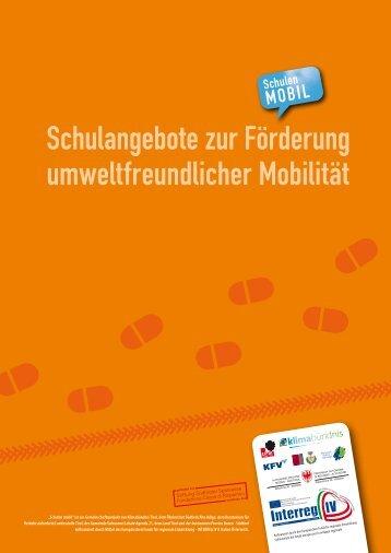 """Download Folder """"Schulen mobil"""" - Schulangebote Südtirol dt."""