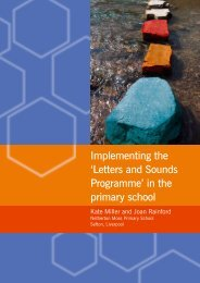 Implementing the 'Letters and Sounds Programme' - National ...