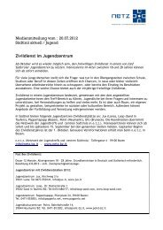 Zivildienst im Jugendzentrum - N.e.t.z.