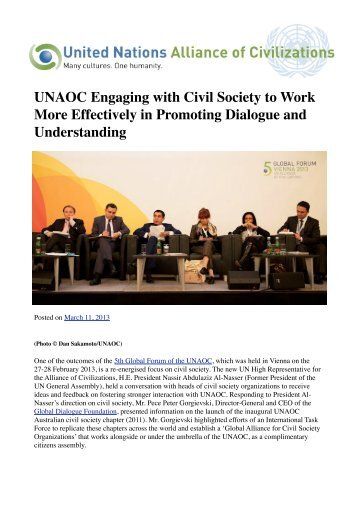 an introduction to the analysis of engaging civil society Civil society and its role in the achievement and governance of  the imperative of engaging civil society has become a central  the introduction of.