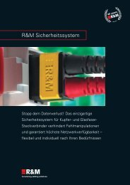 PDF Datei: Broschüre / R&M / Sicherheitssystem Broschüre