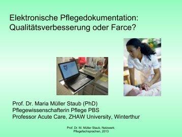 Elektronische Pflegedokumentation - Netzwerk Pflegediagnosen