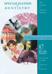 Specialisation in Dentistry: A Practical Guide - Wales Deanery