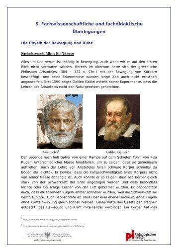 5. Fachwissenschaftliche und fachdidaktische Ãœberlegungen