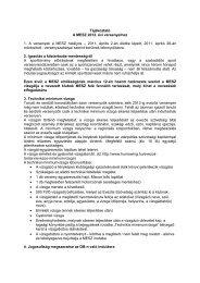 tájékoztató 2012 - Magyar Evezős Szövetség