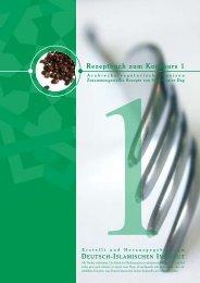 Rezeptbuch zum Kochkurs 1 - Deutsch-Islamisches Institut