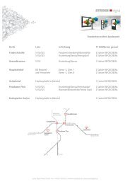 Standortverzeichnis Station / Central Infoscreen