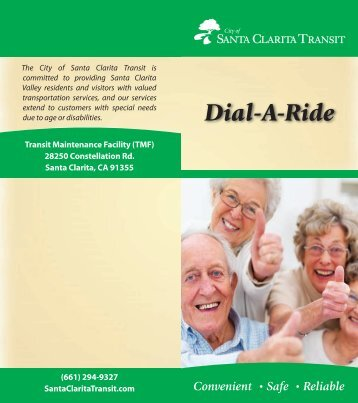 NEW Dial-A-Ride Brochure (*PDF) - City of Santa Clarita Transit