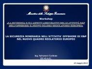 Intervento Ing. Salvatore Carbone - Unmig - Ministero dello Sviluppo ...