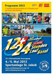 4./5. Mai 2013 Sportanlage St. Jakob