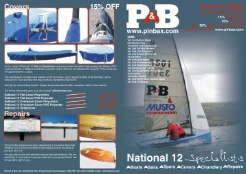 Pinnell & Bax National 12 Autumn Offers - Yachts and Yachting Online