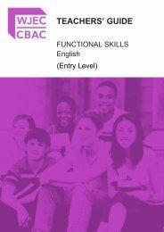 FS EL English Teachers' Guide - WJEC