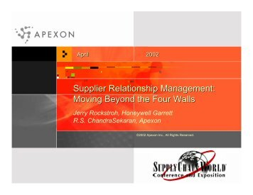Supplier Relationship Management: Moving ... - Supply-Chain.Org