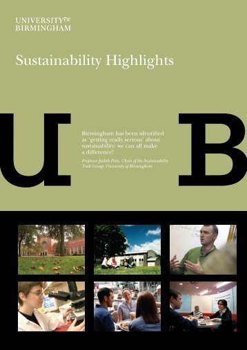 Sustainability highlights (PDF - 1.39MB) - University of Birmingham