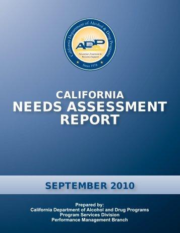 CALIFORNIA NEEDS ASSESSMENT REPORT - Mexico Border ...