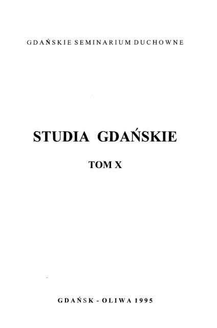 Studia Gdaåskie Tom X