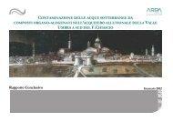 Rapporto tecnico - ARPA Umbria