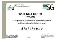 Einführung - Institute of Management (ifu) - Ruhr-Universität Bochum