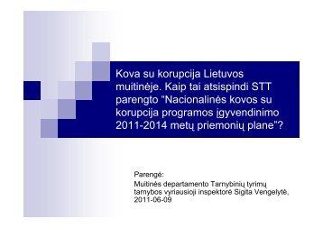 Kova su korupcija Lietuvos muitinėje - Lietuvos Respublikos muitinė