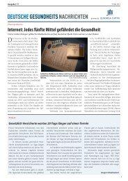 PDF ausgabe 2013-17 - DEUTSCHE GESUNDHEITS NACHRICHTEN