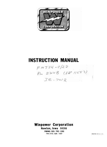 60701 118 parts list and wiring diagram winco generators fm7v4 c2d operators manual wiring diagram winco generators asfbconference2016 Image collections