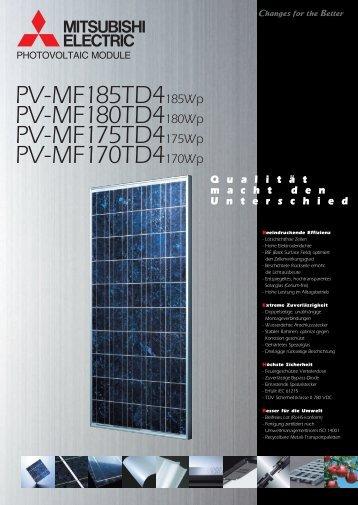 PV-MF185TD4185Wp PV-MF180TD4180Wp PV-MF175TD4175Wp ...
