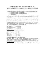 situaţia financiară a universităţii, pe surse de ... - UNEFS Bucuresti