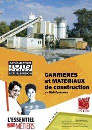 CARRIÈRES et MATÉRIAUX de construction - Carif Oref Midi-Pyrénée