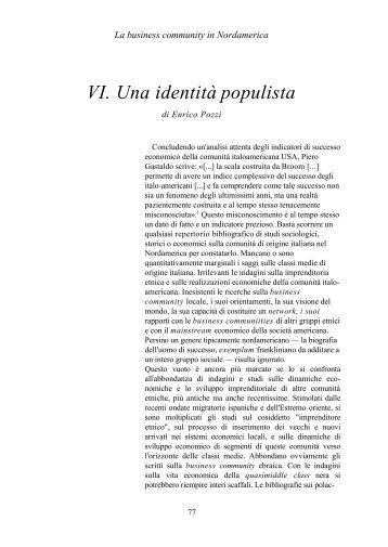 VI. Una identità populista - enrico pozzi