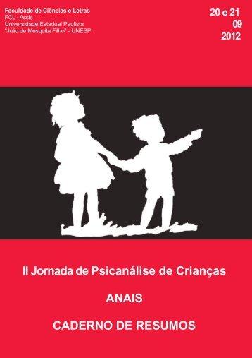 anais da ii jornada de psicanálise de crianças - UNESP-Assis