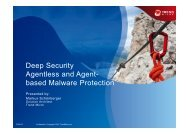 Deep Security Agentless and Agent- based Malware ... - Trend Micro