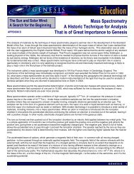 Mass Spectrometry: A Historic Technique for Analysis of ... - Genesis
