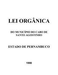 LEI ORGÂNICA - Prefeitura municipal do Cabo de Santo Agostinho