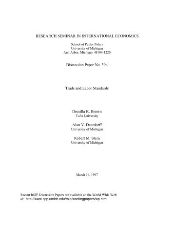 Working Paper - Gerald R. Ford School of Public Policy - University ...